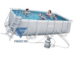 Каркасный бассейн Bestway 56457 (412x201x122см) + песч.фильтр-насос 220В, лестница. - фото 15502