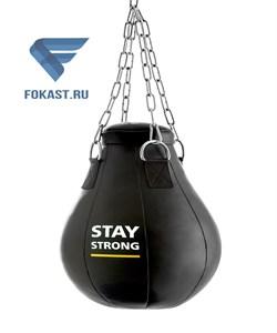 Груша боксерская Е522 кожзам 12 кг черный Effort - фото 15808