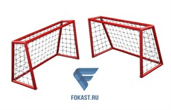 Комплект игровых ворот для футбола/хоккея СС120А (красные) (120 х 80) 2шт - фото 15892