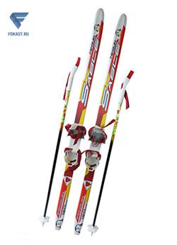 Детск.комплект(лыжи, палки,комбин.крепл.) рост 120 - фото 15932