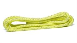 Скакалка для художественной гимнастики RGJ-304, 3м, салатовый/серебряный, с люрексом - фото 15940