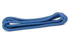 Скакалка для художественной гимнастики RGJ-304, 3м, синий/золотой, с люрексом - фото 15941