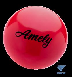 Мяч для художественной гимнастики AGB-101 19 см, красный - фото 15995