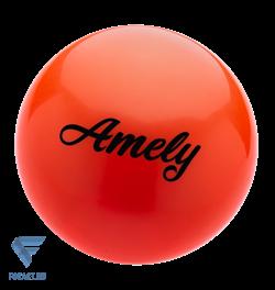 Мяч для художественной гимнастики AGB-101 19 см, оранжевый - фото 15996