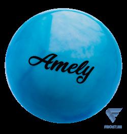 Мяч для художественной гимнастики AGB-101, 19 см, синий/белый - фото 15999