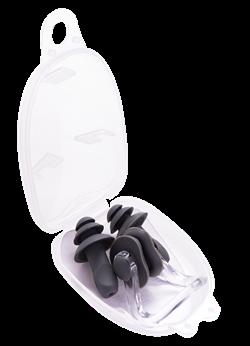 Набор из зажима для носа и берушей, серый - фото 16034