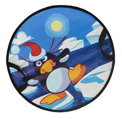 "Санки-круг 52 х 52см "" Пингвин на льдине"" СЛ-41 - фото 16102"