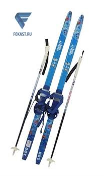Детск.комплект(лыжи, палки,комбин.крепл.) рост 100 - фото 16105