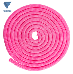 Скакалка для художественной гимнастики RGJ-204, 3м, розовый - фото 16141