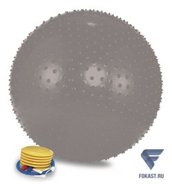 Мяч массажный 1875LW (75см, ножной насос, серебро) - фото 16315