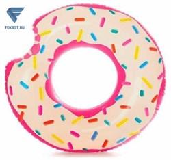 Надувной круг пончик Donut Tube. 107 см, лет 9+  - фото 16406
