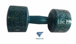 Гантель (корпус пластик) 3кг/шт, изумрудный ES-0377 - фото 16517