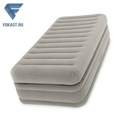 Надувная односпальная кровать со встр. насосом Intex 64444 (99х191х51) - фото 16526