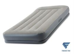 Надувная односпальная кровать Intex 64116 (99х191х30) со встроенным насосом 220В - фото 16527