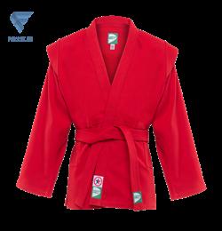 Куртка для самбо JS-302, красная, р.1/140 - фото 16601