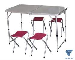 Набор для кемпинга (стол, 4 стула) IK-080 - фото 17020