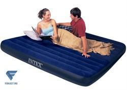 Двуспальный надувной матрас Classic Downy Airbed Intex 64755. - фото 17082