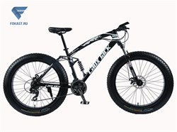 "Велосипед фэтбайк LauxJack Panthera ATX 8 Series 26"" резина 4.0 Black - фото 17126"