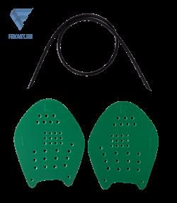 Лопатки для плавания Target, зеленый, M - фото 17178