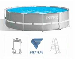 Каркасный бассейн Intex 26716 + фильтр-насос 2006 л.ч, лестница (366х99) - фото 17244