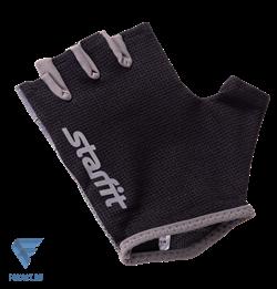 Перчатки для фитнеса SU-127, черный/серый Starfit - фото 17268