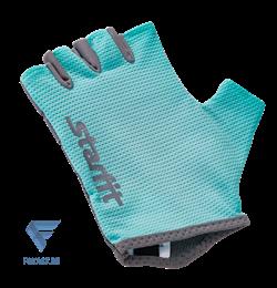Перчатки для фитнеса SU-127, мятный/серый Starfit - фото 17272