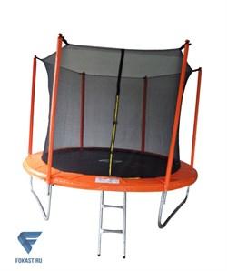Батут SportElite 3,05м MZ-10FT-O с защитной сеткой внутрь и лестницей, оранжевый - фото 17292