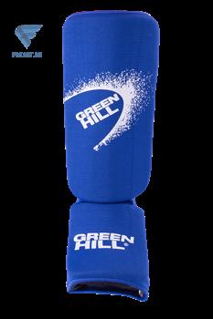 Защита голень-стопа Green Hill SIC-6131, х/б, синяя - фото 17302