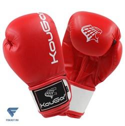 Перчатки боксерские KouGar KO200-10, 10oz, красный - фото 17367
