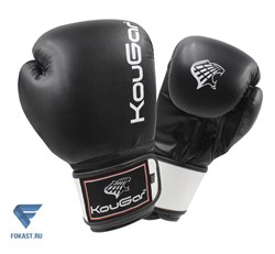Перчатки боксерские KouGar KO400-10, 10oz, черный - фото 17413