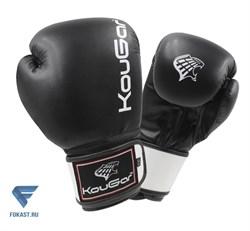 Перчатки боксерские KouGar KO400-12, 12oz, черный - фото 17416