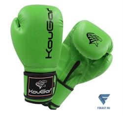 Перчатки боксерские KouGar KO500-14, 14oz, зеленый - фото 17429