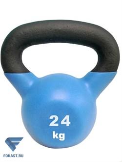 Гиря чугунная обрезиненная SportElite 24 кг - фото 17482