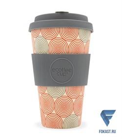 Кофейный эко-стакан 400 мл, Водоворот. - фото 17668