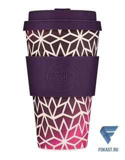 Кофейный эко-стакан 400 мл, Звездный виноград. - фото 17675