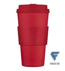 Кофейный эко-стакан 500 мл, Красный рассвет. - фото 17693