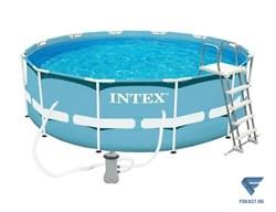 Каркасный бассейн Intex 26718 + лестница и фильтр насос. (366x122) - фото 17696