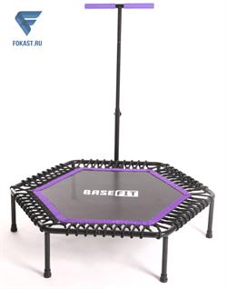 Батут TR-401 101 см с держателем, фиолетовый (джампинг фитнес) - фото 17742