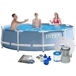 Каркасный бассейн Intex 26702 + фильтр-насос (305х76см) - фото 17790
