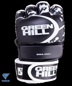 Перчатки для MMA-0057, к/з, черные Green Hill - фото 17806
