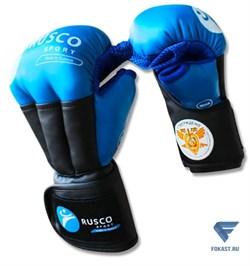 Перчатки для рукопашного боя PRO, к/з, синий Rusco Sport - фото 17908