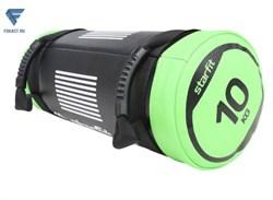 Мешок-утяжелитель WT-601 10 кг, черно-зеленый - фото 18188