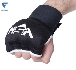 Внутренние перчатки для бокса Bull Gel Black, M - фото 18223