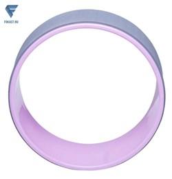 Колесо для йоги YW-101, 32 см, серо-розовый - фото 18274