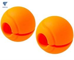 Комплект расширителей хвата BB-111, d=25 мм, сфера, оранжевый, 2 шт. - фото 18823
