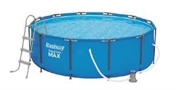 Каркасный бассейн круглый 56418 BestWay, 366х100см, фильтр-насос 2006 л/ч - фото 19240