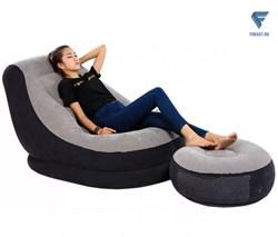 Кресло надувное с пуфиком Intex 68564 (99x130x76) - фото 19258