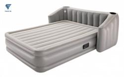 Надувная кровать со спинкой, подстаканником и подсветкой, встр.насос 220В, bestway 67620 - фото 19882
