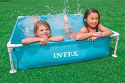 Детский каркасный бассейн голубой  122х122х30 см. INTEX 57173 - фото 4480