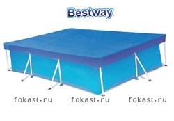 Тент для прямоугольного каркасного бассейна (300х201) Bestway 58106 - фото 4587